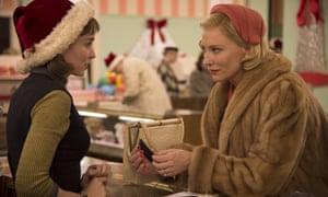 Rooney Mara, left and Cate Blanchett in 2015's Carol.