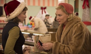 Cate Blanchett (right) as Carol, in the Todd Haynes film of Patricia Highsmith's story.