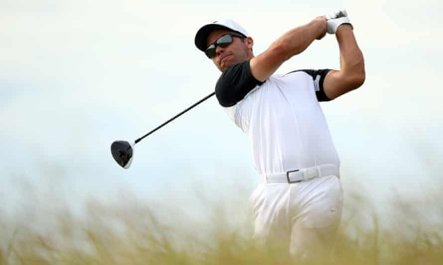 Paul Casey plays his tee shot at the 10th hole during the second round of the US Open at Erin Hills.