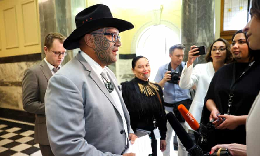 Māori Party co-leader Rawiri Waititi speaks to media during the opening of New Zealand's 53rd parliament on November 26, 2020 in Wellington, New Zealand.