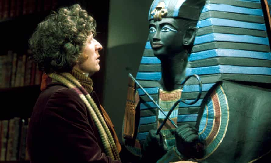 Tom Baker in the Doctor Who story Pyramids of Mars, 1975, directed by Paddy Russell.