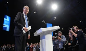 Philip Hammond after his address to the Conservative party conference in Manchester.