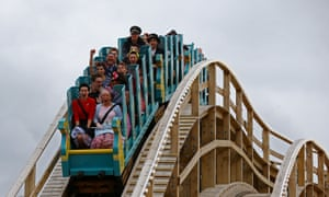 Competition winners and members of the public riding the scenic railway