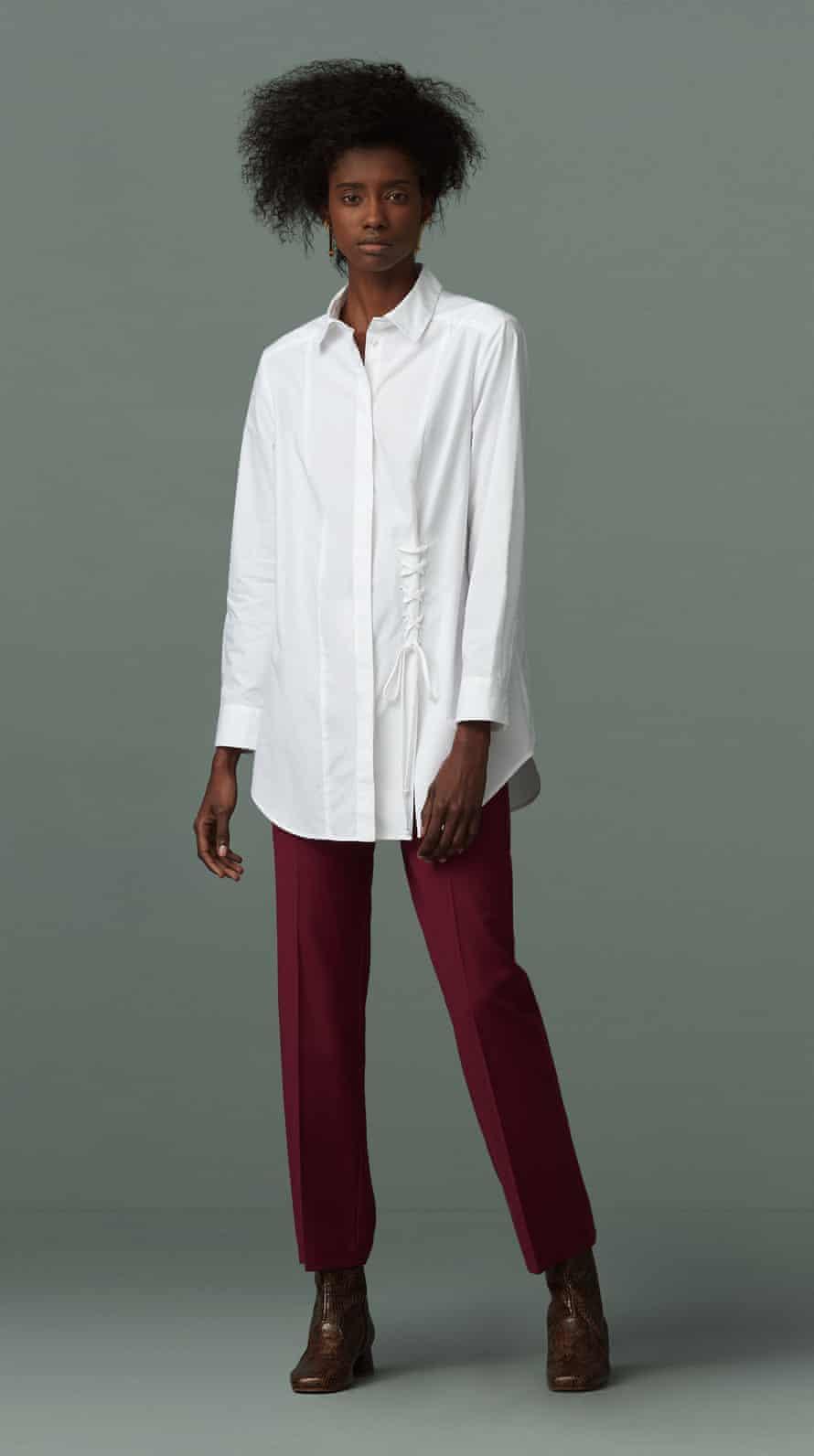 Grainger white shirt from Finery London.