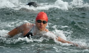 Britain's Jack Burnell in the marathon swimming