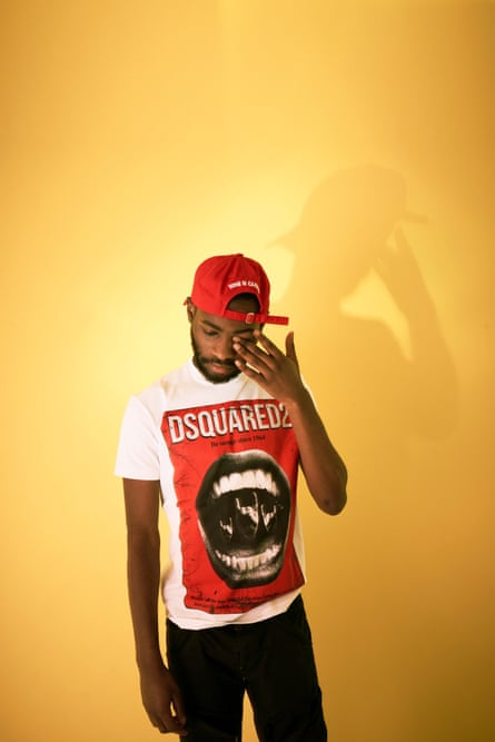 Dave the rapper ( real name David Orobosa Omoregie ) AKA Santan Dave , photographed by Phil Fisk in London for the Observer New Review by Phil Fisk Feb 2019