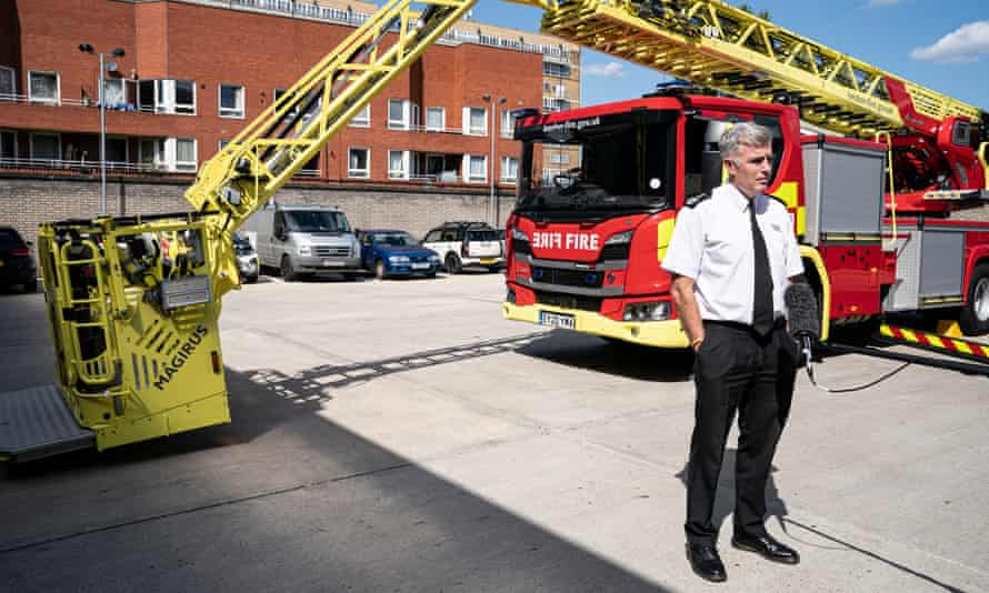 Andy Roe at Old Kent Road Fire Station