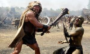 Dwayne Johnson as Hercules in the 2014 film.