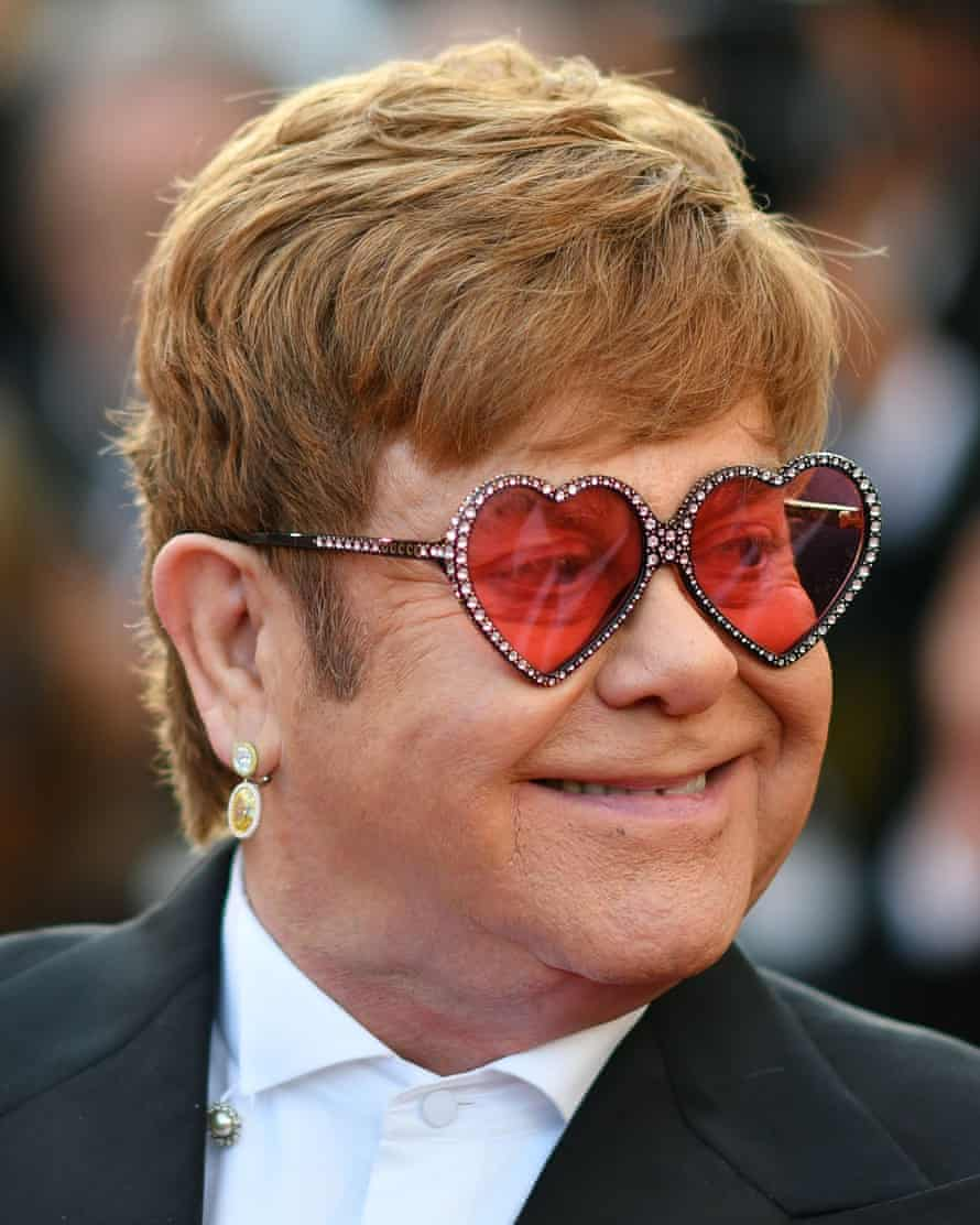 Elton John arriving for the screening of Rocketman at the Cannes film festival earlier this year.