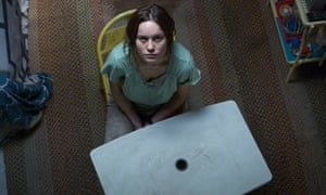 Brie Larson as Ma, a kidnapped woman living in a shed with her son, in Room.