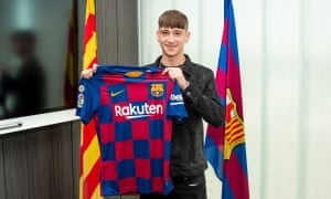 Louie Barry has gone from the Championship club West Brom to Barcelona.