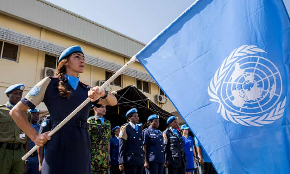 UN police officers in Juba, South Sudan, May 2016