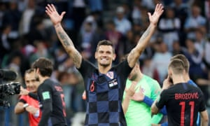 Dejan Lovren celebrates Croatia's seismic 3-0 victory over Argentina – they won their group with maximum points after also beating Nigeria and Iceland.
