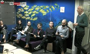 Sky News Raw: a meta live stream of a newsroom? What a mad