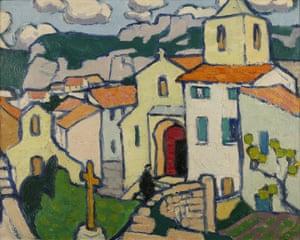 Navigating a new landscape … Les Baux, the Priest Enters His Church by Jessica Dismorr.