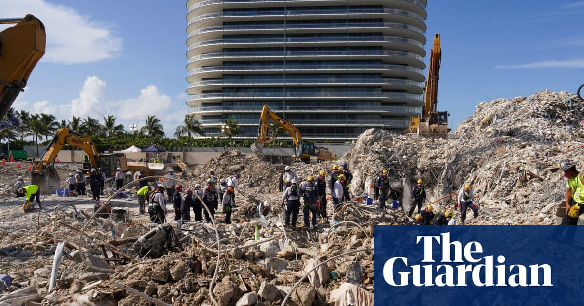 Miami condo death toll reaches 95 as crews near end of search