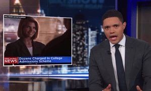 Trevor Noah: 'This is a huge story right now ... because of everything it says about how privileged people get ahead in a country that's supposed to be about merit and hard work.'