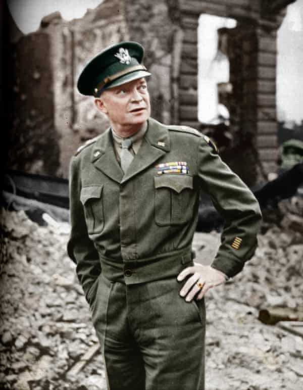 General Dwight D Eisenhower, supreme commander of the allied expeditionary force, in 1945.