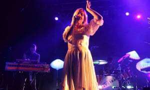 Austra performing in London, 2013.