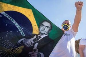 Supporters of President Jair Bolsonaro demonstrate in Brasíia earlier this month.