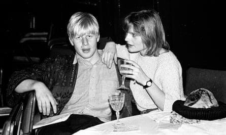 Boris Johnson and Allegra Mostyn-Owen at a ball at Oxford Town Hall in March 1986.