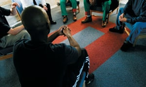 Prisoners in group therapy at HMP Grendon