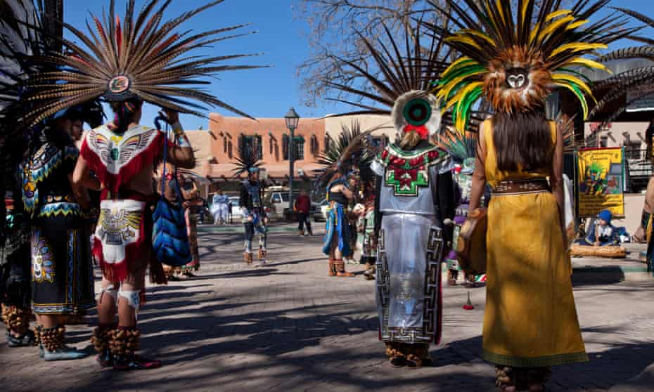 A dance performance on the Plaza in Taos.