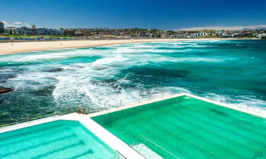 Bondi Baths in Sydney.