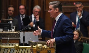 Keir Starmer held the prime minister to account for mishandling A-level exams.