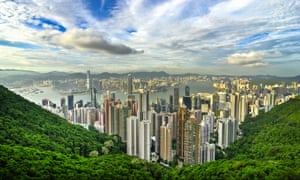 The view of Hong Kong from Victoria Peak.