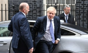 Boris Johnson arrives in Downing Street as he reshuffles his cabinet