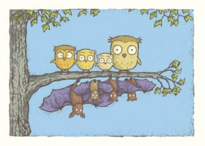 Humorous and touching … Owl Bat Bat Owl.