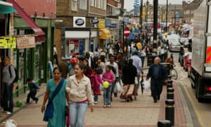 Shoppers in Green Street, Newham