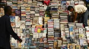 A street book stall in Mumbai.