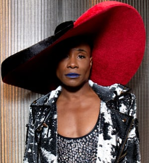 A blue lip: Billy Porter at New York's Pride in June.