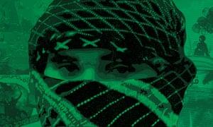 Jihadi militant illustration