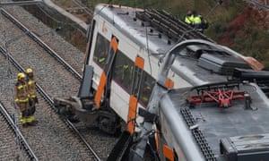 Catalonia train crash: one dead in landslide derailment | World news