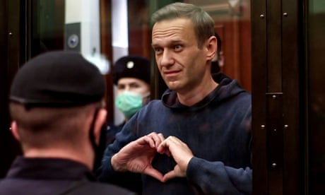 Russian opposition leader Alexei Navalny jailed for two years and eight months  – video