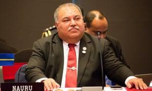 Nauru's president, Baron Waqa