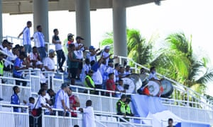 Local fans make some noise for Real San Andrés.