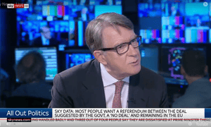 Peter Mandelson on Sky's All Out Politics