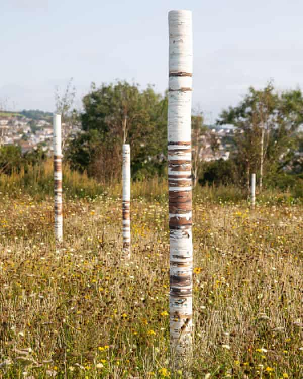'Art always makes people look again.: Part of the Whitegold trail in St Austell, Cornwall.