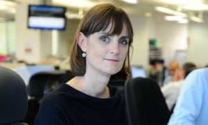 Amelia Gentleman in the Guardian office, London