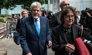 Rolf Harris leaving Southwark crown court.