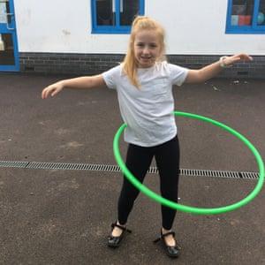 Hula hooping by Rosie, nine