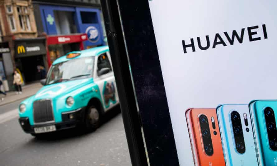 An ad for Huawei in central London.