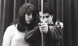 Anne Wiazemsky and Jean-Pierre Leaud in La Chinoise.