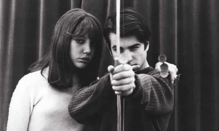 Anne Wiazemsky and Jean-Pierre Leaud in La Chinoise.