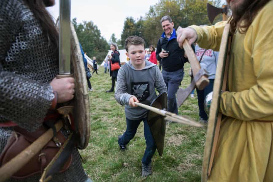 A boy with a sword