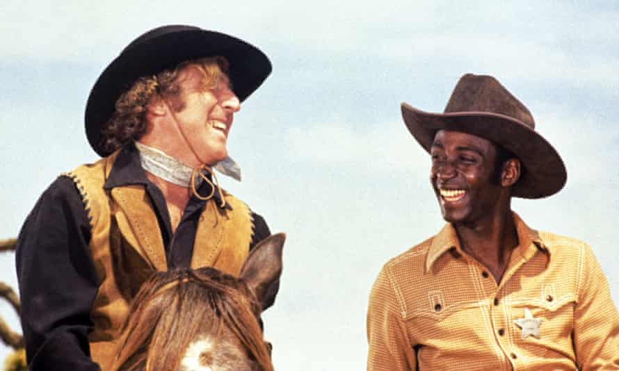 Played for laughs ... Gene Wilder and Cleavon Little in Blazing Saddles (1974).